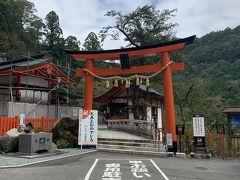 この日のメインイベントは昇仙峡。  昇仙峡に向かう前に、もっと上にある金櫻神社に行きました。