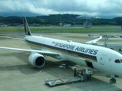 まずは、福岡空港からシンガポールへ。