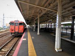 下関駅に戻りいよいよ今旅のメインその1、 山陰本線乗車でございます。  たらこ♪