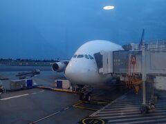 シンガポールからシドニーへ。 機種はA380ですが、ほぼ満員でした。