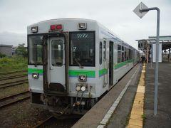 この列車は函館本線の名勝ルート、長万部駅からニセコを通って倶知安駅まで向かいます。1世代前の冷房付き気動車に乗ります。
