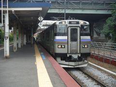 翌朝は新型気動車のニセコライナーに乗って札幌に向かいます。1日1本しかない貴重な列車に乗りました。