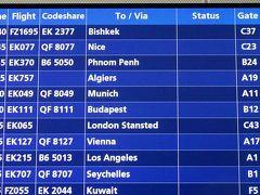 4:33 ドバイ国際空港(DXB)ターミナル3に到着。事前のチェックではターミナル3はBゲートだったけど,今回はA22ゲートだった。   まず,搭乗ゲートを確認。ミュンヘン行きは,同じAゲートの11番だった。