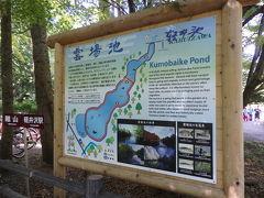 そうして歩いていると、雲場池に着きました。  調べてみると、上皇陛下・上皇后陛下は、軽井沢を訪問された際には、この運場池周辺をお散歩されるようです。