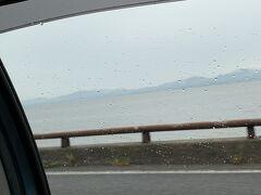 10:50、宍道湖です。  雨は降ったり止んだり。