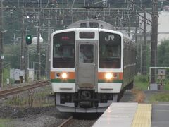 信越線の電車で横川へ行きます。