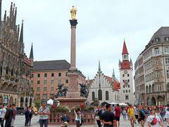 マリエン広場          中世には市場や決闘にも使われた歴史ある広場で,現在でも市場やクリスマスマーケットなどが開かれ,常に観光客で溢れるミュンヘン観光の中心スポット