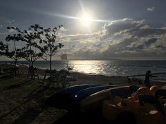 サンセットを見にフサキビーチへ! ゆっくりと時間が流れていきます。。