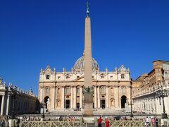 サンピエトロ大聖堂とオベリスク 格が違いますな。