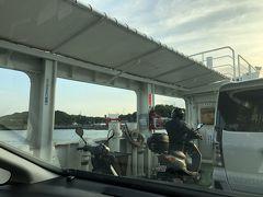 西瀬戸自動車道(しまなみ海道)を通って因島へ。土生港からフェリーに乗って弓削島へ向かいます。 車(レンタカー)でフェリー初乗船!
