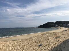 篠島海水浴場、ここも夏場は人でごった返しているんだろうな