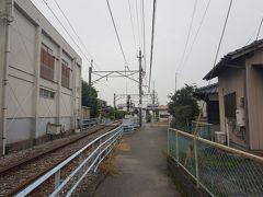 10分弱歩けば、西鉄甘木線の古賀茶屋(こがんちゃや)駅があります。路地を歩いた先にある小さな駅舎は、風情満点。三井電気軌道として開業した、軌道敷の名残りを感じられます。