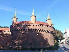 9時ごろホテルを出発し、旧市街に向かいます。 旧市街の入口にはバルバカンという馬蹄形の砦があります。 ヨーロッパに現存するバルバカンは3つしかなく、このクラクフのものがもっとも大きく、15世紀に作られたそうです。他の2つはワルシャワとフランスのカルカッソンヌにあるそうです。 ワルシャワのはこのあと見たので、バルバカンを制覇すべくカルカッソンヌに行きたいです。 中に入ることができますが、まだ開いてないので、町の中に進みます。