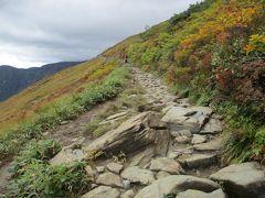 八方山荘・標高1,830mからのトレッキングスタート。