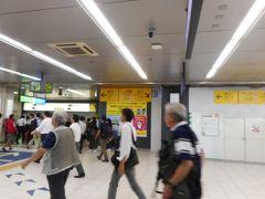 JR浜松町駅駅構内は、工事中でモノレールへの近道が分かりずらい。 浜松町駅出口の手前山側にできていた。
