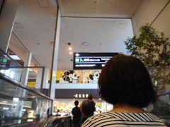 長いエレベータに乗って階上に移動すると、JALカウンターの階に着きました。
