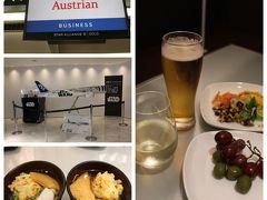 ANAのマイルを利用して取れた特典なので少々遠回りも致しかたありません。 取れたのはオーストリア航空のウイーン経由です。 なので久しぶりのANAビジネスラウンジ@成田。 JALのFラウンジを利用出来るようになってからは美味しいお酒があるので搭乗前にお腹がいっぱいになり機内食を楽しめない事態になってたのですが今回は機内食に期待です。 飛行機の模型を購入する機会があるのだけどANAのフライングホヌは3万円もしても実物は小さくおもちゃ。 このスターウォーズ程あれば存在感はあるね~