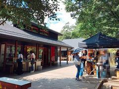 2017年は星野エリアにある『ハルニレテラス』でランチしました。  『ハルニレテラス』は星野リゾートが運営する複合施設で、 渓流沿いのウッドデッキにショップやレストランが立ち並び、 軽井沢らしい爽やかで気持ちの良い時間が過ごせます。  2017年の記事はこちらをご覧下さい↓ https://ameblo.jp/uluru-69/entry-12473592736.html?frm=theme    今回は『ハルニレテラス』の前を通過して、 『鬼押出し園』へ向かいました。