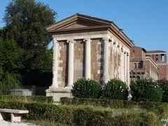 ポルトゥヌス神殿  ポルトゥヌス神殿 Tempio di Portuno < ボッカ・デッラ・ヴェリタ広場(真実の口公園、真実の口広場) Piazza della Bocca della Verità