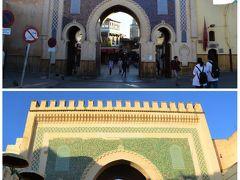 この街の最大の門、ブー・ジュルード門。 旧市街(スーク)への起点となる門で 表が青、裏が緑です、ってことを 確認してお次へGO~!