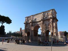 33<コンスタンティヌスの凱旋門> 後にローマ帝国の皇帝となる「コンスタンティヌス」が、サクサ・ルブラで正帝マクセンティウスの軍団を撃破し勝利したことを記念して建造された門です。