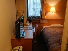 17:20 ホテルにチェックインしました。本日は『ルートイン品川大井町』に宿泊します。