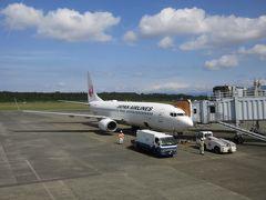 飛行機は10:40発のJAL626便。 ホテル近くの河原町バス停からリムジンバスに乗りました。(750円)