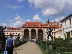 ヴァルドシュテイン宮殿 子供たちが遠足にきていました