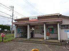 深日港駅の駅舎。 さっきの深日町駅と似たような造り。