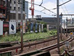 飯田町駅    旧客車入換引上線跡 写真左手の上り勾配。