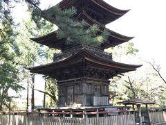 三明寺三重塔。国指定重要文化財。  三重塔は1層・2層が和様、3層が禅宗様になった珍しい構造で、国の重要文化財に指定されている。