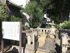 山本勘助の墓。 生前、長谷寺の和尚と親交があった為に、遺髪を納めた五輪塔が山本勘助の墓としてあった。