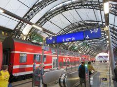 ドレスデン中央駅到着  人口55万と旧東ドイツの中でも大きい町です。