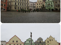 雨に濡れた旧市街の中心  スヴォルノスティ広場(Námesti Svornosti)