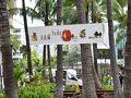 さて!  散策開始〜っ!!!  ロイヤルハワイアンセンター内ではちょうどこの日から  「hula ho'olauna」  と言う一般参加型のフラ大会が開催されていました。