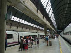 ▽サンタ・フスタ駅  15時34分、セビージャ・サンタ・フスタ駅に到着 予定より6分も早い。