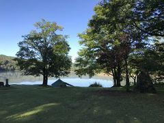 ホテルから車で数分の所にある「チミケップ湖キャンプ場」。 テントが一つだけ張られていました。