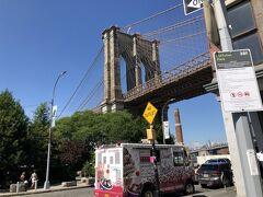ブルックリンブリッジのブルックリン側には、対岸のマンハッタンを 観られる公園があるのをテレビで見た覚えがあるので、スマホで検索 橋の南にあるようなので行きます。