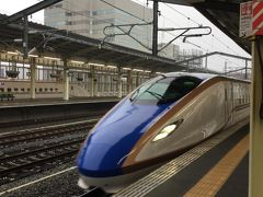 ★9:49 雨風が強くなってきましたが、高崎には定刻通り到着。この先は山岳区間となる為運行への影響が懸念されるところ。大事を取って上越新幹線に乗車します。