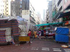 廟街のナイト・マーケット(男人街)