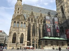 オペラ座の館内ツアーには遅れてしまったので、ケルントナー通りを歩いてシュテファン大聖堂に来ました。ウィーンの一大観光地なので人も多いです。