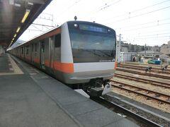 ここで、中央線特別快速に乗り換えです。  ②中央線:特快.東京行 高尾.14:31→八王子.14:37 [乗]JR東日本:モハE233-29