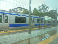 羽黒駅で 小山行き電車と交換しました。