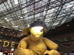 約12時間かけてドーハに到着。 よく他の方の旅行記で見る巨大クマを見られてちょっと嬉しい。