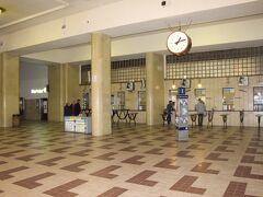 何と駅でした。人が少ないなぁ。プラハ・マサリク駅というらしい。
