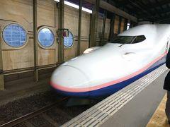 あっという間に帰る時間。 新幹線に乗って帰りま~す。