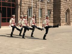 大統領官邸の衛兵の交代式。