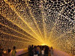 イルミネーションの点灯は5時半から。 光のトンネルの様子です。