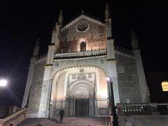 外に出たら、もう真っ暗。  お隣のサン・ヘロニモ教会はもう閉まっていたので写真のみです。