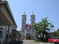 新潟カトリック教会です。昭和の頃は朝晩鐘が鳴っていましたが、最近は騒音の苦情が出て鳴らないんだそうです。